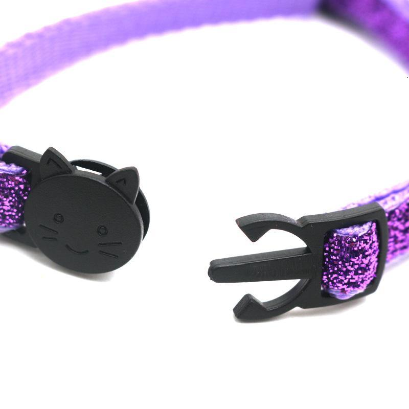 Fashion Round Cat Collars Bell Cat Face Pet Cat Cute Lovely Necklace Neck Strap Safety Buckle Adjustable Pet Lead Accessory VT1573