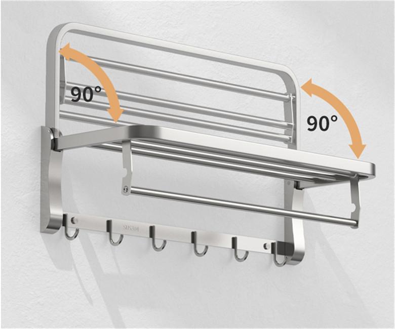 Customized family bathroom hanger, bath rack, clothing rack, multi-functional brand, high-end configuration11