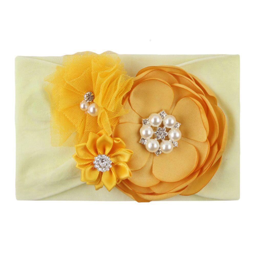 DIY flower baby headband with pearl baby girl headbands princess kids headband baby designer head band designer headbands hair accessories