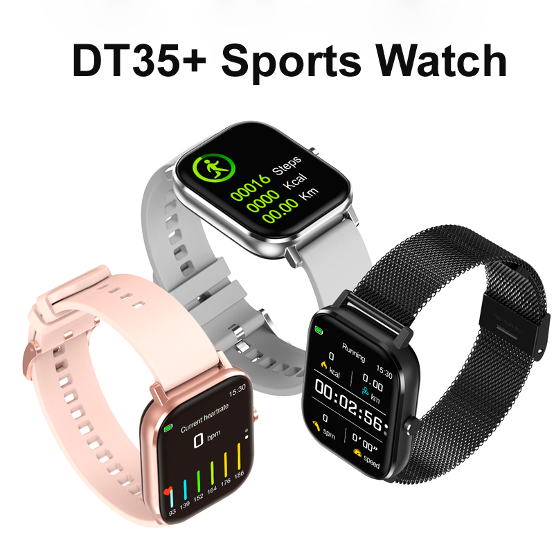 DT35+ Smart Watch Women Men 1.75 inch HD Screen Smart Watches ECG PPG Sports Fitness Tracker Bluetooth Smartwatch iOS Phone Call Lover Gift