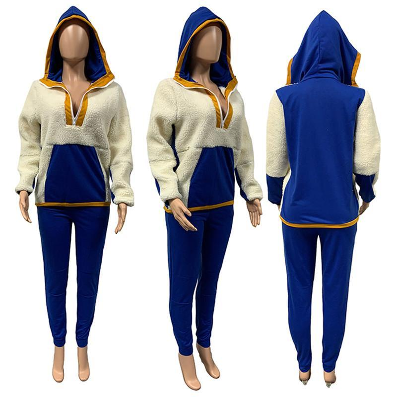 women tracksuit long sleeve hoodie outfits shirt pants set skinny shirt tights sport suit pullover pants hot selling klw5207