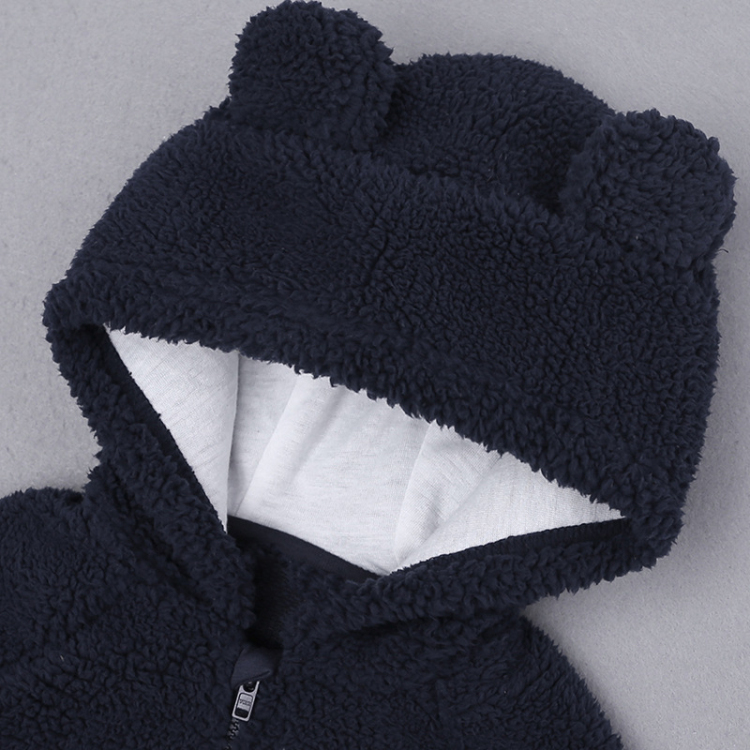 Black baby hooded cartoon cotton outfits long sleeve (3)