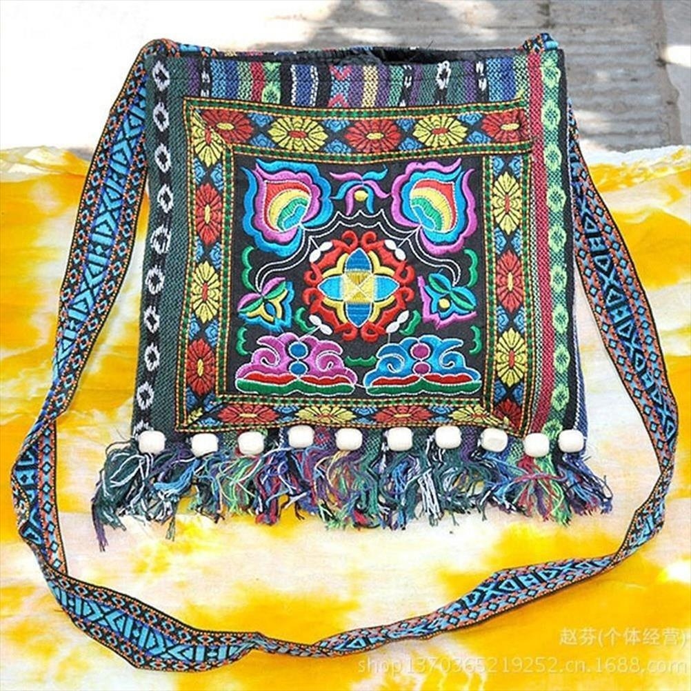WOMAN/'S Handbags Embroidered UNIQUE Vintage Boho Hippe Retro Fleece FREE postage