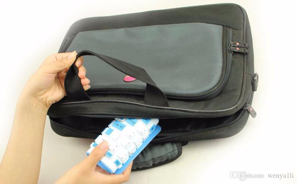 Portable 2.4G Wireless Silicone Soft Keyboard 107 key Flexible Waterproof Folding Keyboard Pocket Rubber Keyboard for PC Laptops