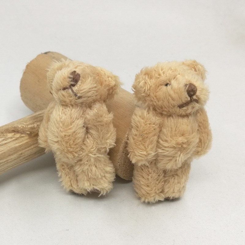 4.5cm long wool bear with foot leather 14