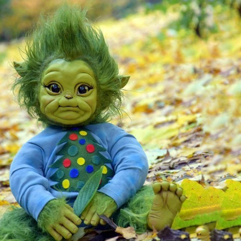 New-Reborn-Baby-Grinch-Toy-Realistic-Cartoon-Doll-Christmas-Simualtion-Doll-Kids-Christmas-Gifts-Drop-Shipping
