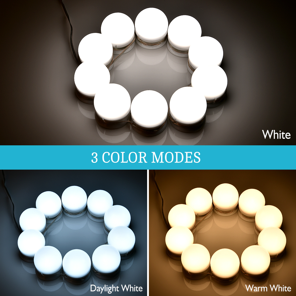 Makeup Mirror Vanity LED Light Bulb Hollywood Dimmable Mirror Light Makeup Vanity Table Set for Dressing Room Without Mirror (7)