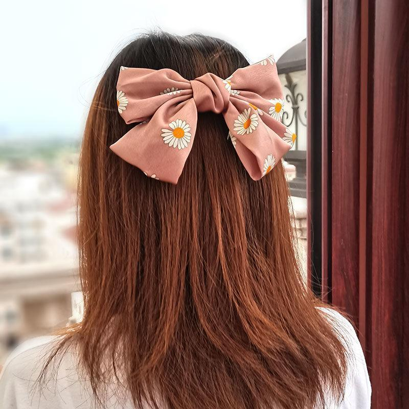 Women Hairpin Big Red Bowknot Headdress New Arrival Sweet Style Hair Rope Spring Clip Girls Stylish Hairpin