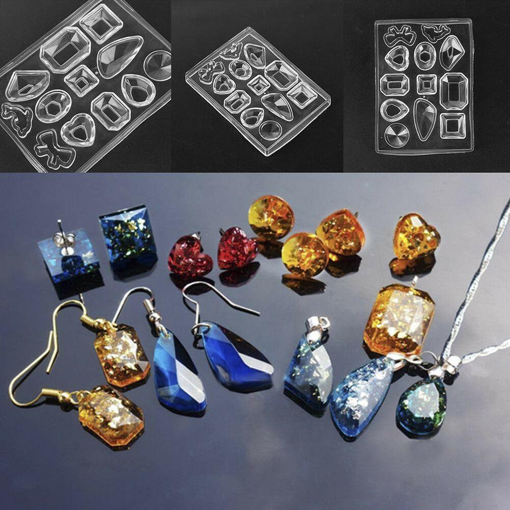 GreyBL pendientes de resina de molde hecho a mano de cristal colgante de epoxi UV ganchos de oreja moldes de joyer/ía herramientas de fabricaci/ón de moldes de silicona