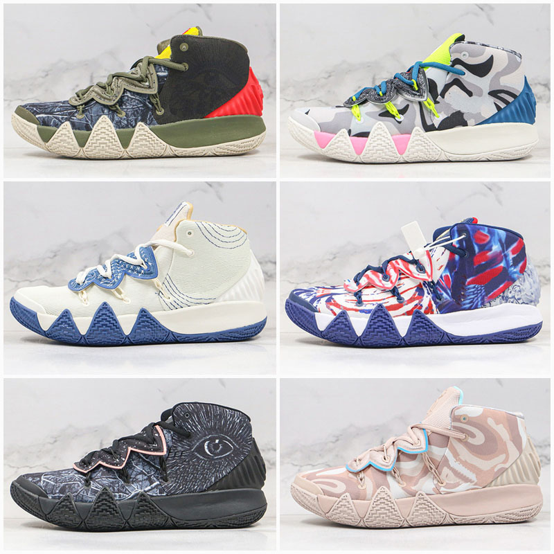 2020 New Kybrid S2 EP What The Neon Camo Mens Basketball Shoes Desert Camo Sashiko Pack black men Trainer sports Sneakers Shoes