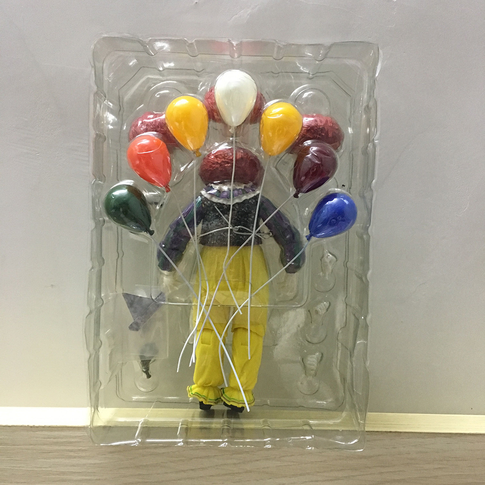 Horror Movie It Character NECA Joker With Balloons Pennywise Action Figure Model Toy for Christmas Halloween Gifts (000000001)