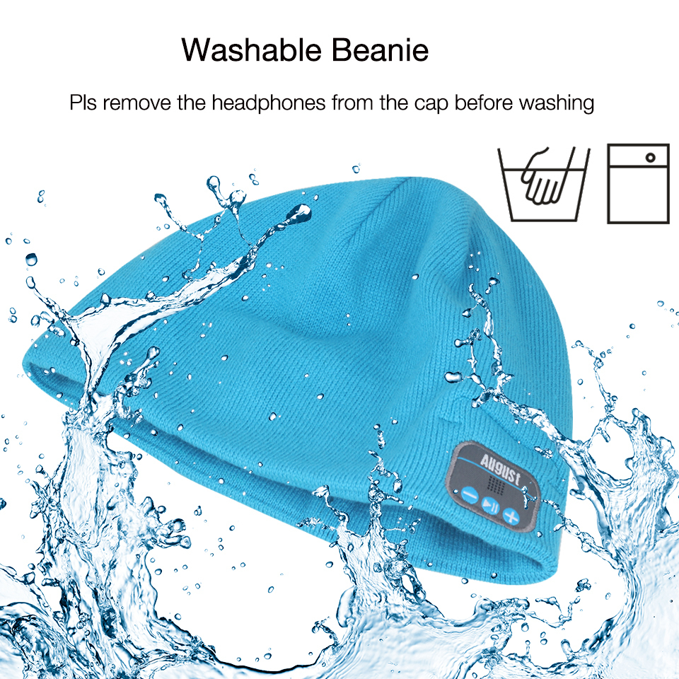 August EPA20L Washable Beanie with Speaker