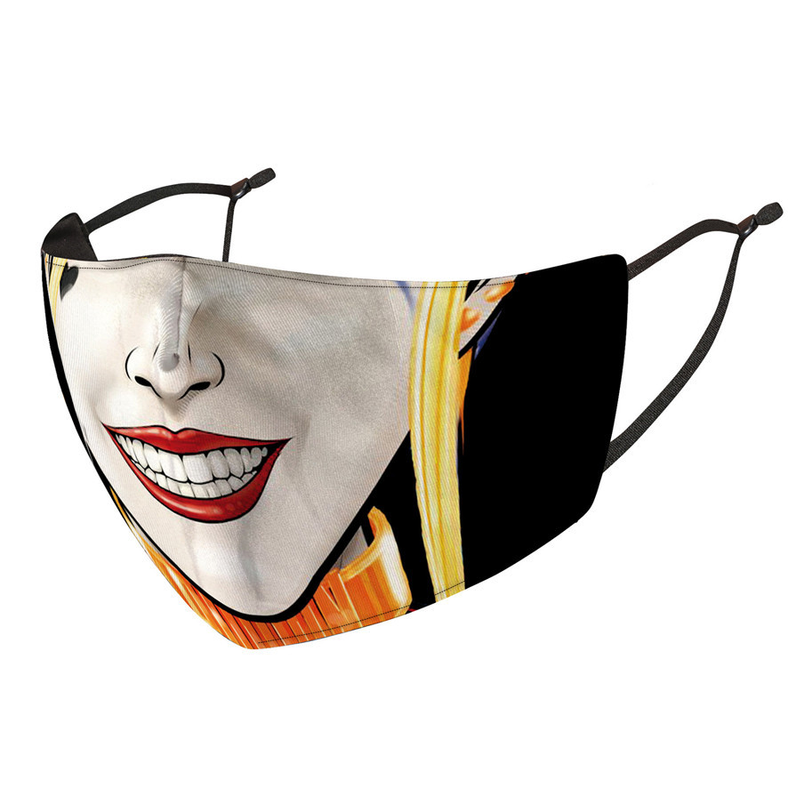 face mask designer fashion face masks clown printed mask dustproof windproof and haze replaceable PM2.5 filter wash mask