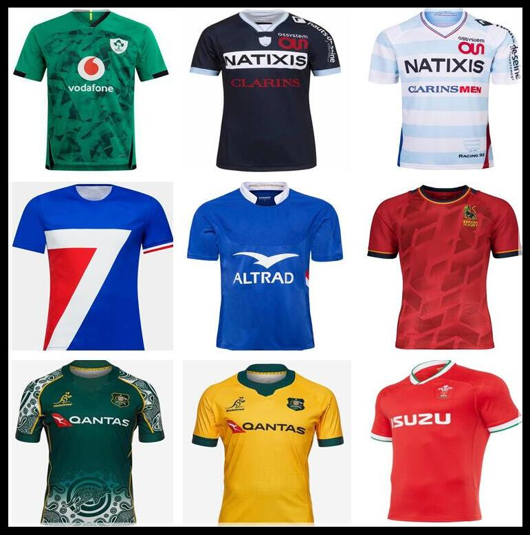 2020 RACING 92 HOME RUGBY JERSEY Rugby shirt 2019 2020 FRANCE RUGBY IRELAND SPAIN WALES AUSTRALIA TRAINING JERSEY