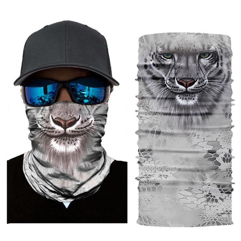 Riding Cycling Magic Scarf Face Mask Headband Halloween Masks 3D Animals Printing Hood Winter Outdoor Sunscreen Cover Quick Dry Face Masks