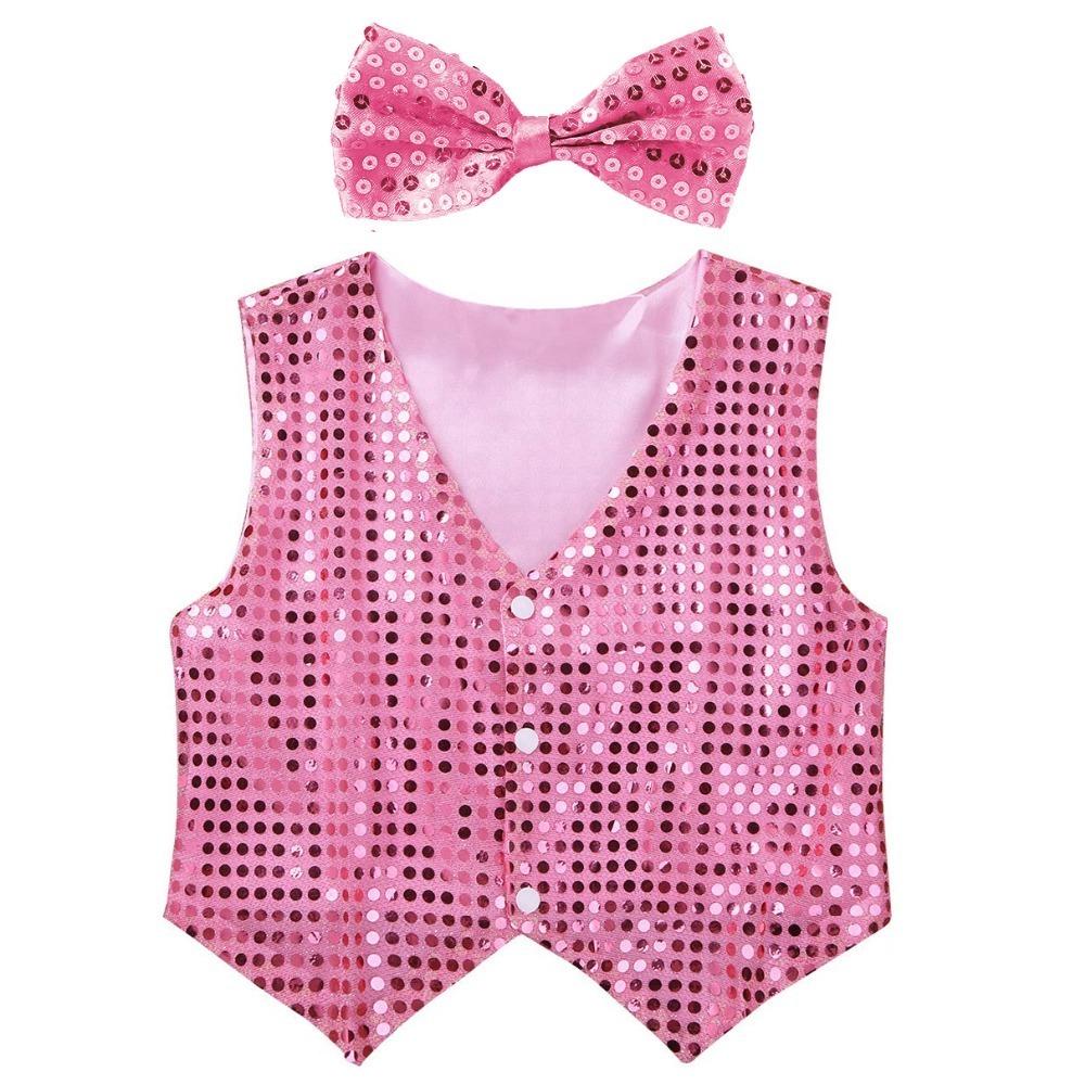 pink sequins vest (1)