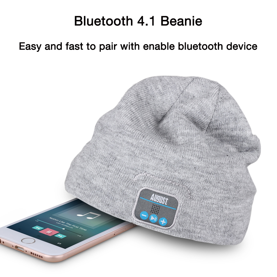 August EPA20G Wireless Bluetooth Beanie Hat