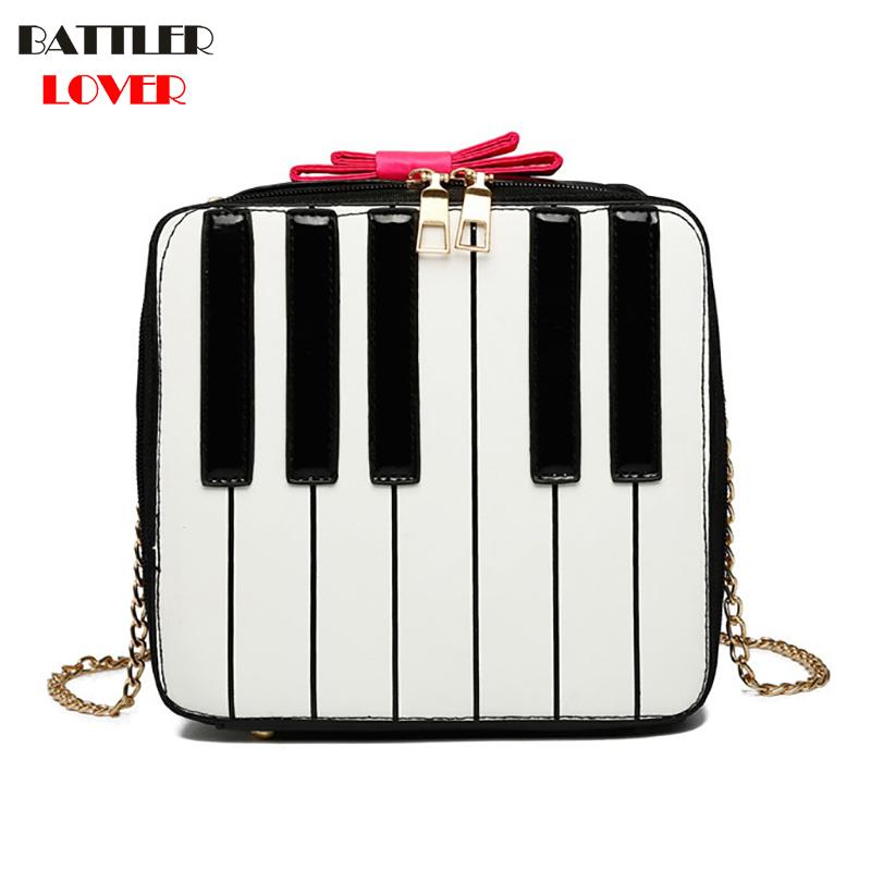 Piano Keyboard Design Womens Handbags Crossbody Bags Girls Shoulder Messenger Bag Mujer Handbag for Women