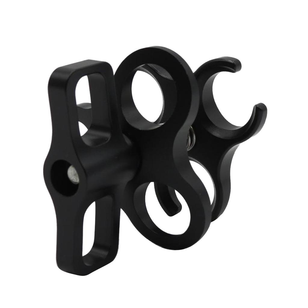 CNC Aluminio Aleación Abrazadera de bola submarina Soporte de Montaje para GoPro 6//5//4//3 Rojo