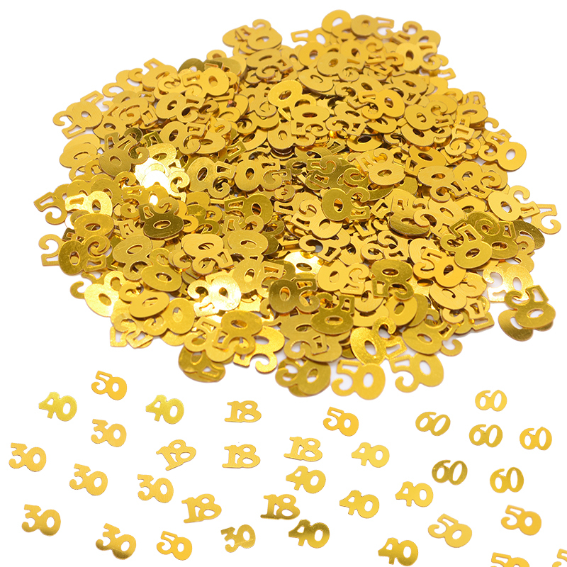 1pack Gold Confetti Birthday Wedding Party Table Scatters Decor Numbers 18 30 40 50 60 Digital Confetti Sprinkle Party Supplies