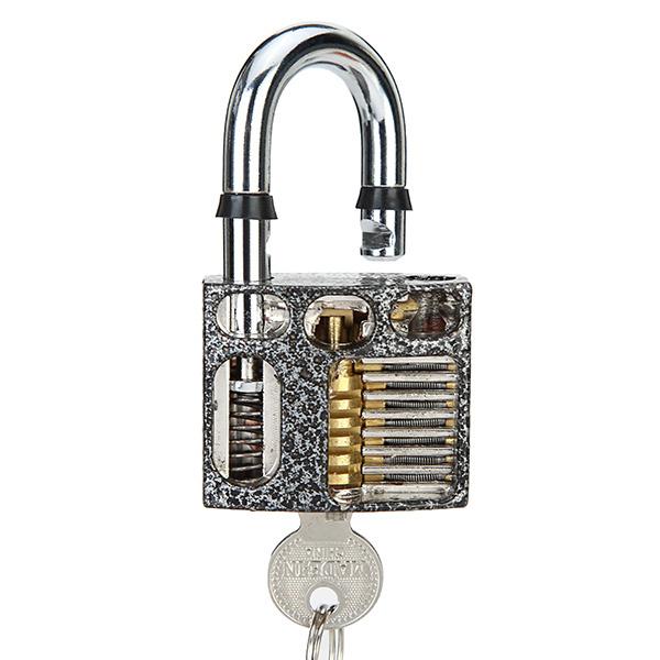 DANIU 3pcs Cutaway Inside View Of Practice Padlock Lock Pick Tools Locksmith Training Skill Tools Set