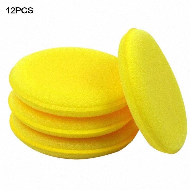 12 Pcs//Set 10x10x3cm Foam Sponge Waxing Wax Applicator Pad Cars Vehicle Glass Car Cleaning Tool