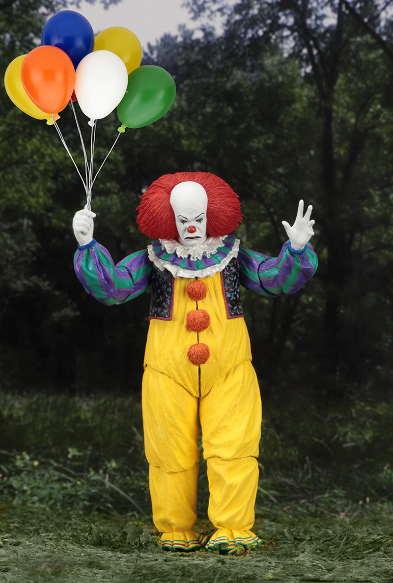 Horror Movie It Character NECA Joker With Balloons Pennywise Action Figure Model Toy for Christmas Halloween Gifts (3)