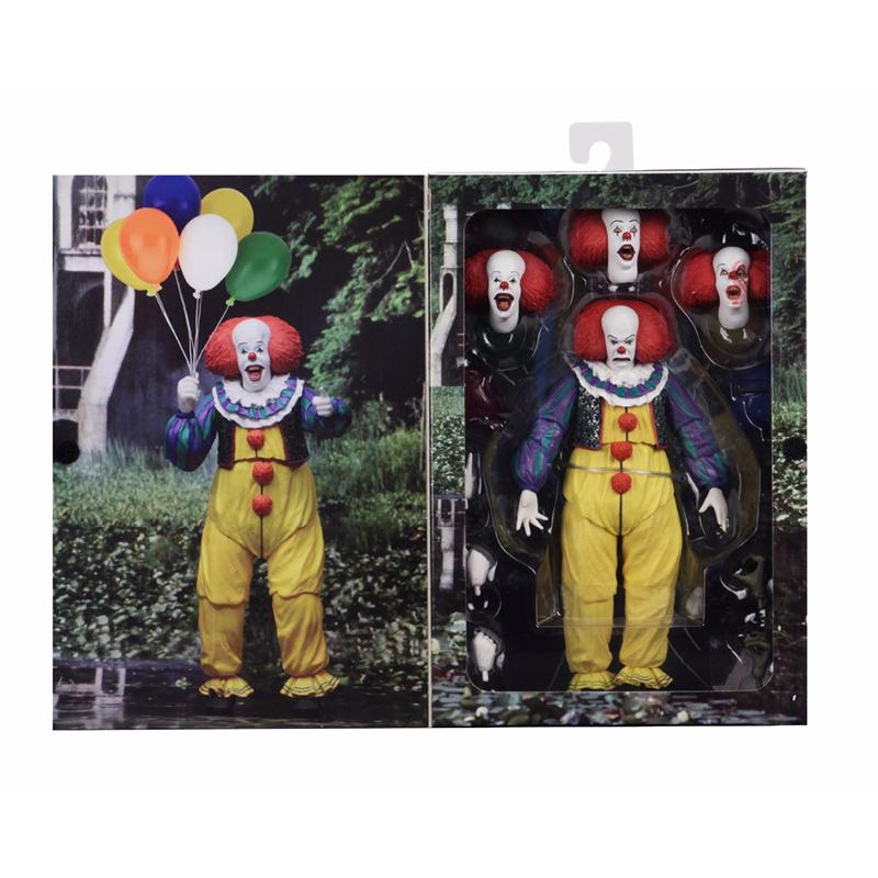 Horror Movie It Character NECA Joker With Balloons Pennywise Action Figure Model Toy for Christmas Halloween Gifts (2)