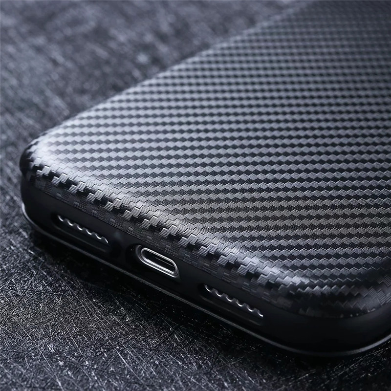 Carbon Fiber Magnetic Flip Hard Case for Galaxy S20 S10 Plus S20FE Note20 Ultra Protective Shell Cover for Samsung A51 A01 A21 A11