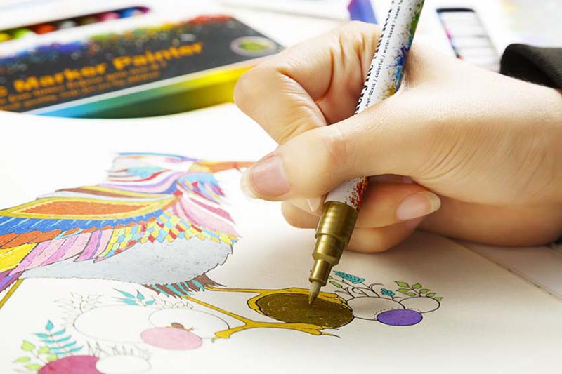 18 ColorsSet 0.7mm Acrylic Paint Marker pen for Ceramic Rock Glass Porcelain Mug Wood Fabric Canvas Painting Detailed Marking (40)