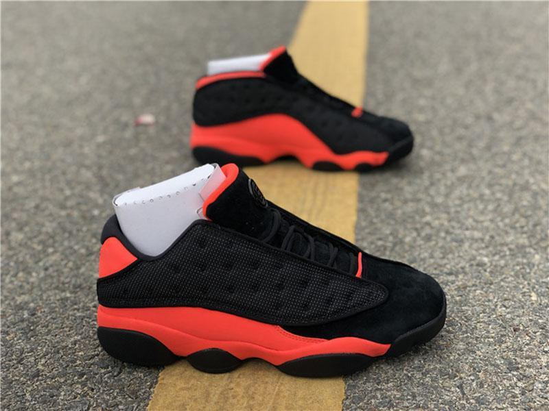 Clot x 13 Low Black Infrared 23 High Quality Men Basketball Shoes 13s Black suede 3M Mens Womens Sports Sneakers with box