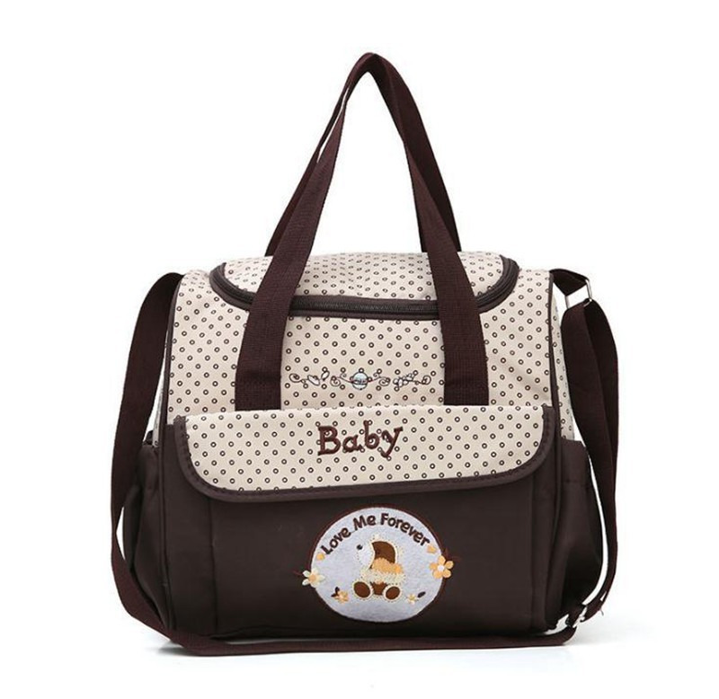 CROAL CHERIE 381830cm 5pcs Baby Diaper Bag Sets changing Nappy Bag For Mom Multifunction Stroller Tote Bag Organizer (17)
