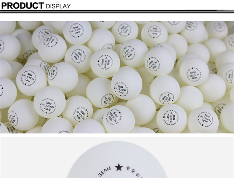 Huieson 100pcsbag 1 Star ABS Plastic Table Tennis Balls New Material Environmental Ping Pong Balls S40+ for Teenagers Training (3)