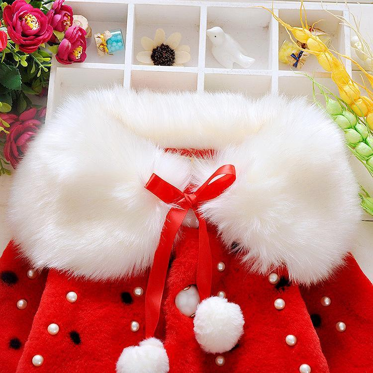 Kids Designer Clothes Girls Baby Toddler Infant Girls Clothes Cute Fleece Fur Winter Warm Coat Outerwear Cloak Jacket Kids Cute Coat Clothes