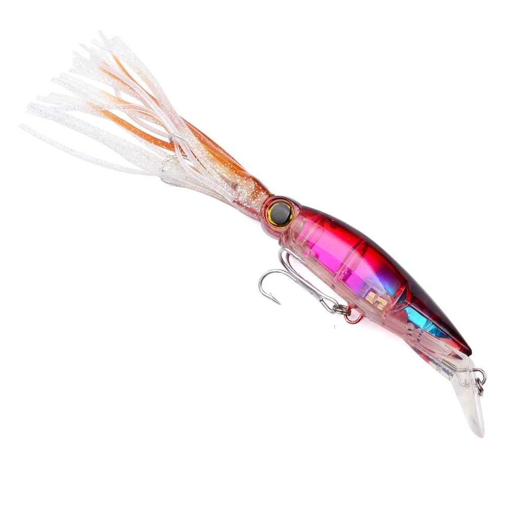 Artificial Trolling Octopus Bionic Squid Lures 14cm 40g Plastic Sleeve-Fish Fishing Lures Hard Baits