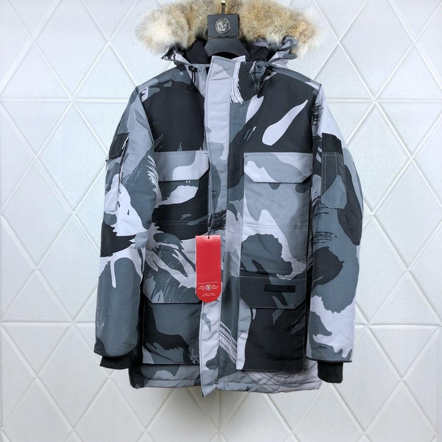 Brand new Man Canada Down Coats Expedition Parka Style08 Print Parkas Outdoor Warm Man Winter Coat Outwear Jackets Parkas