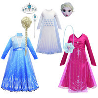 2020-Ice-Snow-2-Girls-Dresses-Wig-Snow-Queen-Elsa-Anna-Dresses-For-Kids-Clothes-Cosplay