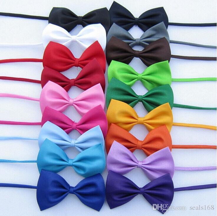 Adjustable Pet Dog Bow Tie Neck Accessory Necklace Collar Puppy Bright Color Pet Bow Mix Color HH7-302