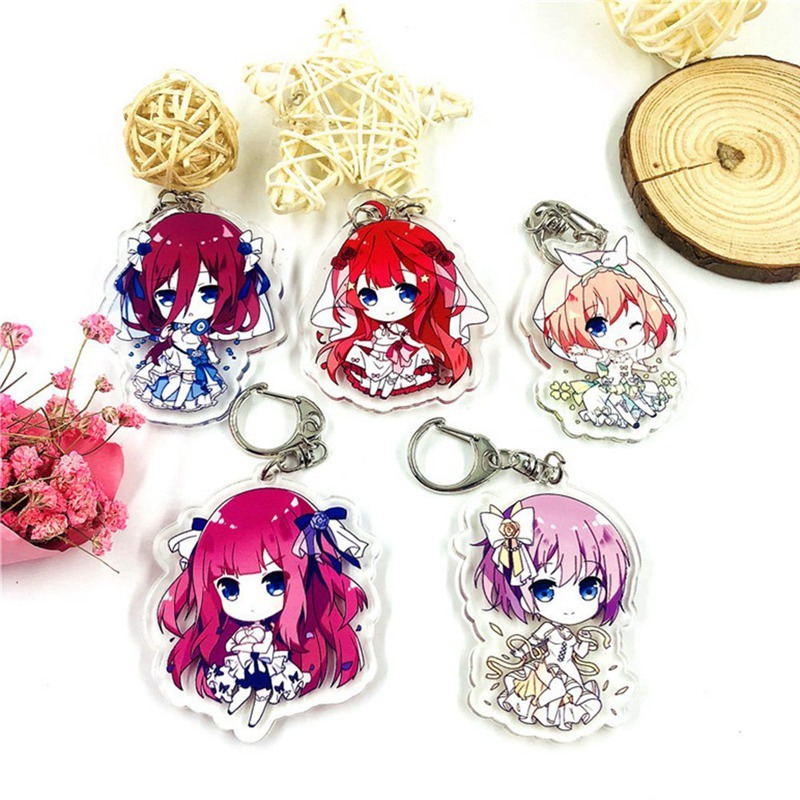 Anime The Quintessential Quintuplets Nakano Miku Acrylic Keychain Cosplay