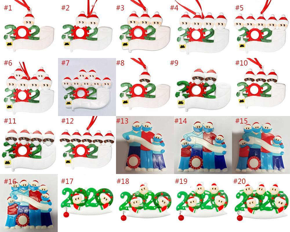 Christmas Ornaments 2020 Christmas Decorations Mask Snowman Decoration Holiday Gift Toilet Paper Survivor Christmas Tree Ornaments XD24001