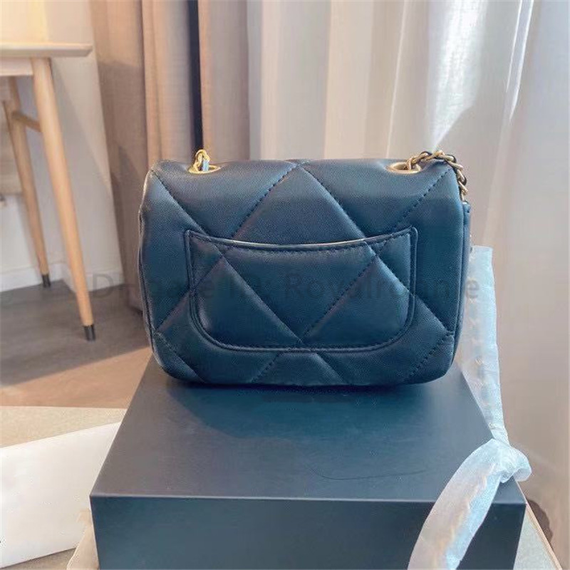 2021 Classic Designer Lady Fashion Cross Body Metallic Artwork Letter Handbags Diamond Lattice Mini Square Flap channel women Shoulder Bags