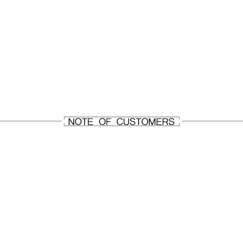 NOTE OF CUSTOMERS