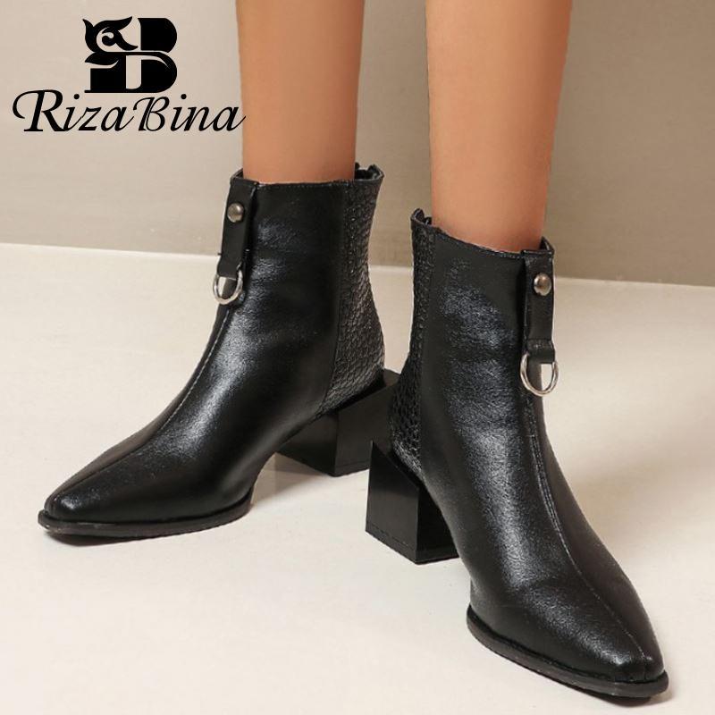 Office Winter Ankle Boots Women 2020