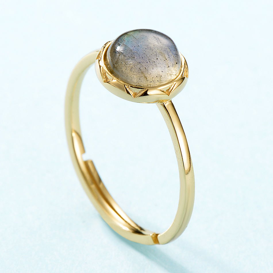 ALLNOEL Real 925 Sterling Silver Rings For Women 7mm Natural Labradorite Ring S925 Fine Jewelry For Women Gift On 2019 March 8 (4)