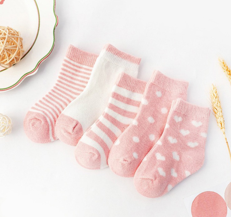 Kids Soft Cotton Socks Boy Girl Baby Cute Cartoon Warm Stripe Dot Fashion Sport Spring Summer Autumn Winter Children