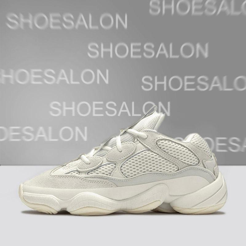 2020 Soft Vision Stone Bone White Shoes Men Women Moon Yellow Utility Blush 500s Salt Kanye West 500 Designer Sports Sneakers Wave Runner #7