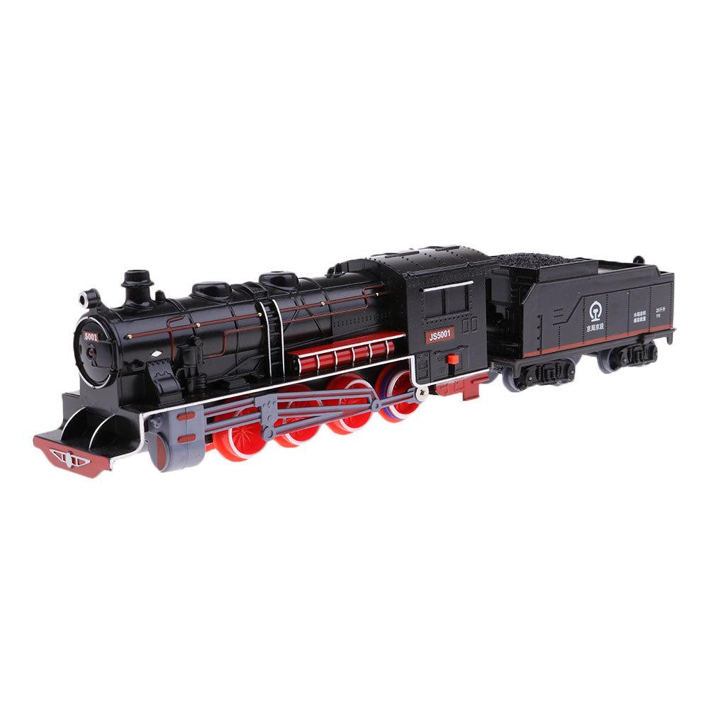 Classical Chinese Steam Locomotive Model & Coal Cars Retro Vehicle Hobby