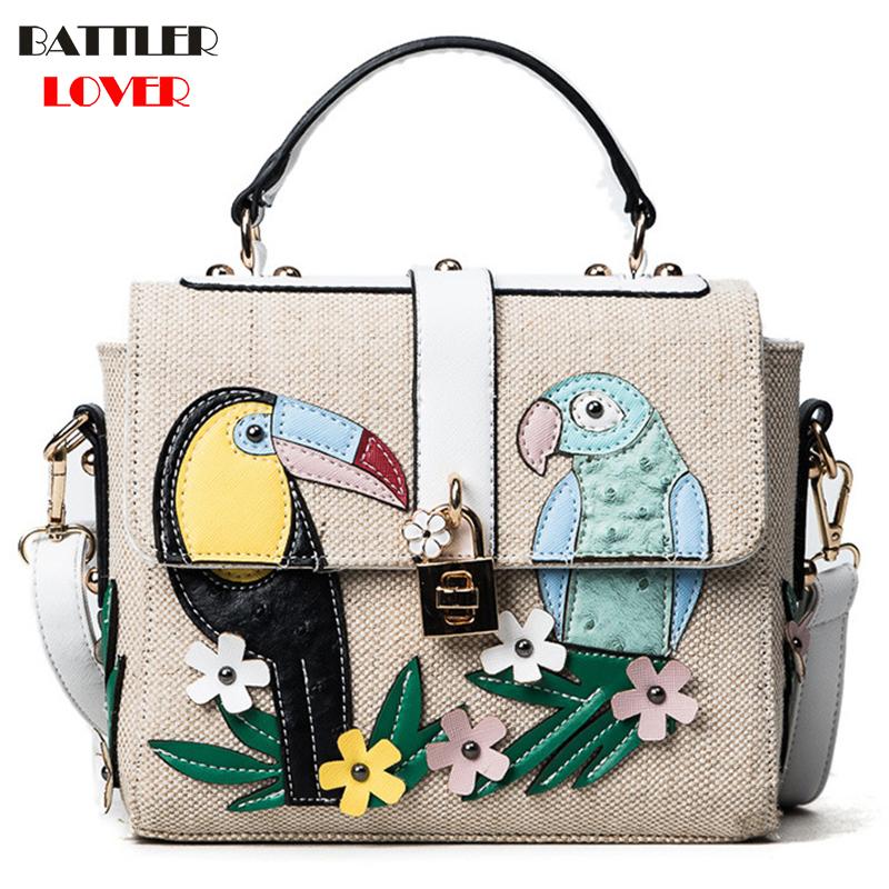 Summer Bird Flap Bags for Women 2019 Bags Women Handbag Bolsa Feminina Shoulder Messenger Bag Luxury Design Handbags Ladies Bag