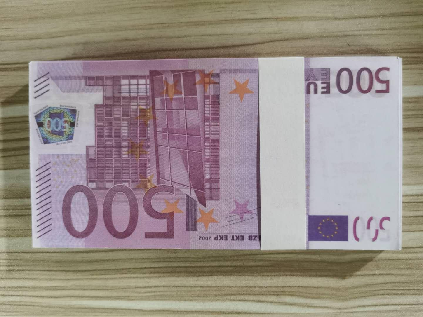 500 Euros Party Paper Money 100pcs/pack Play Game Board Fake Atmosphere Banknote Stage Toys Nighclub 02 Ofoxi