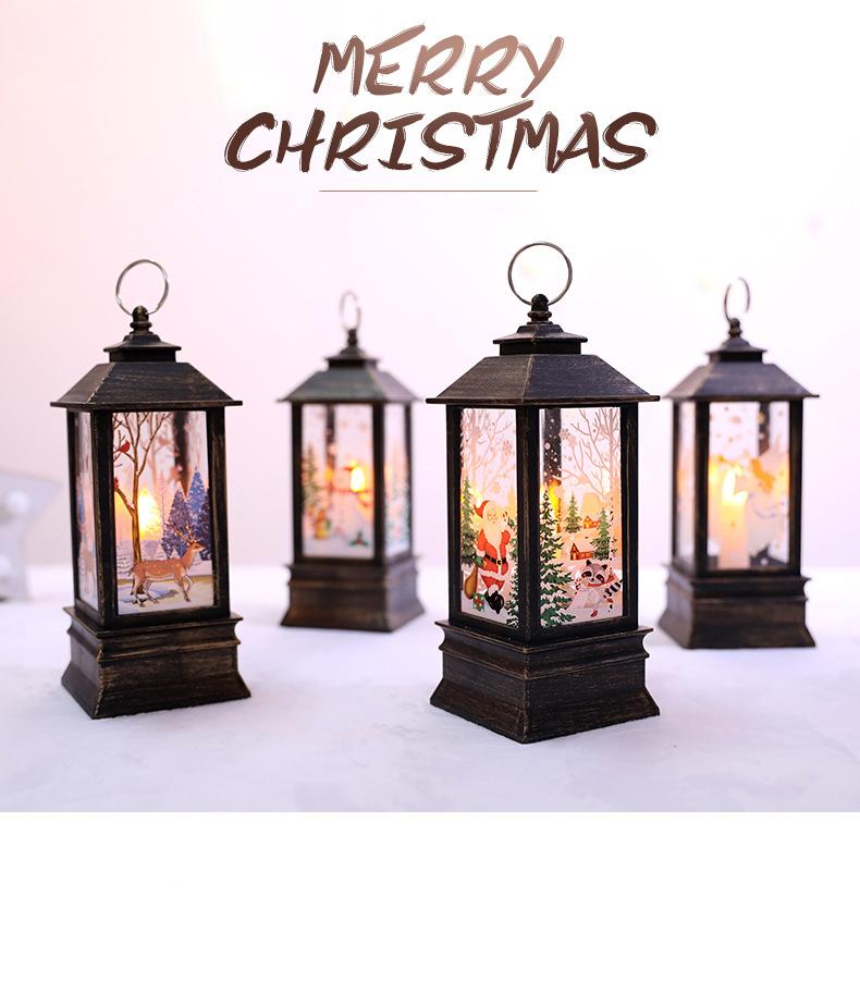 Christmas led small oil lamp portable lamp shopping mall window bar restaurant interior decoration decoration flame lamp decoration supplies
